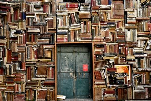 books and door to wisdom
