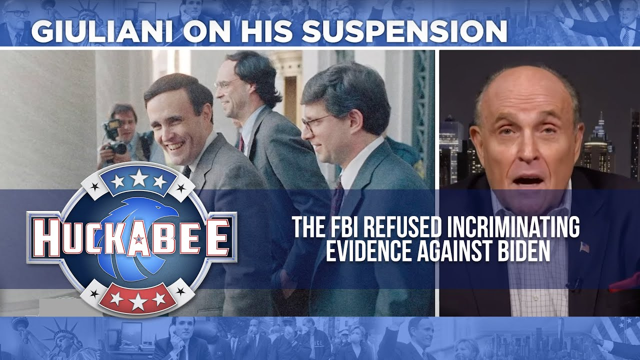 The FBI REFUSED Incriminating Evidence Against Biden   Rudy Giuliani   Huckabee